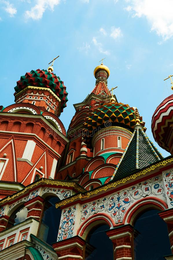 Saint Basils Cathedral On Red Square In Moscow Stock Image