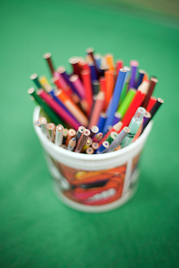 Download Colouring Pencils stock photo. Image of learning, container - 17992928