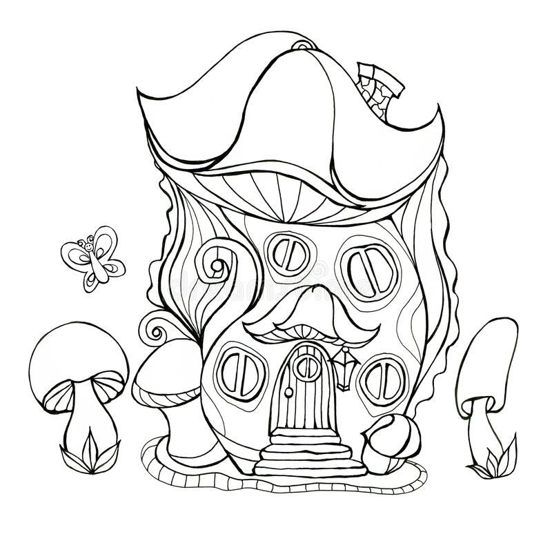 Mushroom Colouring Drawing Stock Illustrations – 172 Mushroom Colouring  Drawing Stock Illustrations, Vectors & Clipart - Dreamstime