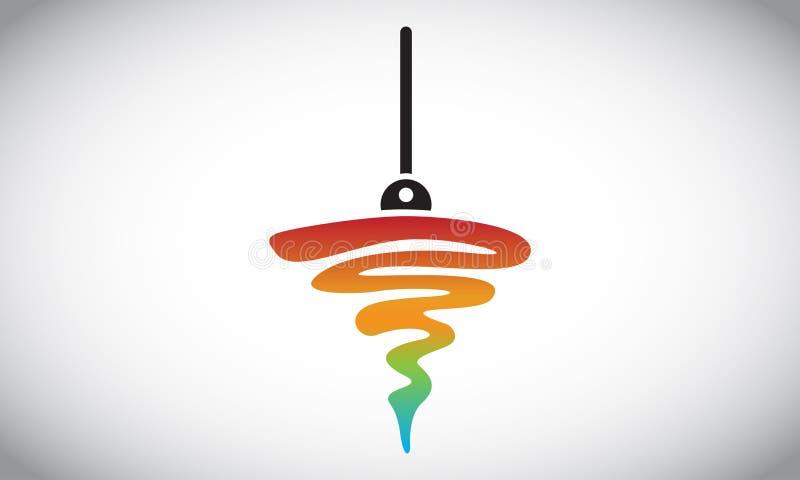 Colourly vertical Logo Design foto de archivo libre de regalías