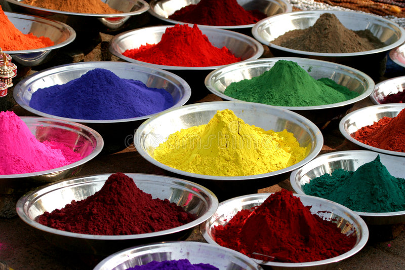 Colours. Color powder trays in India