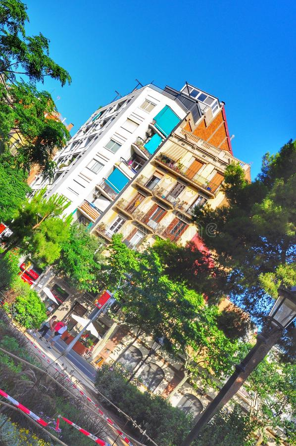 Colours of Barcelona. Barcelona bright street colours, summer 2016 royalty free stock photography