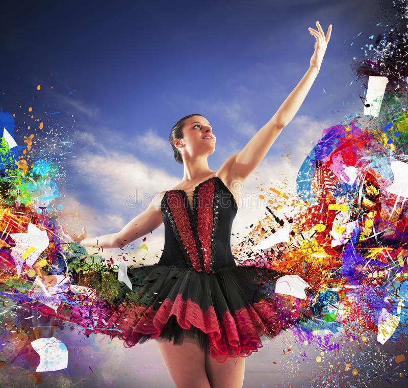 Colours classical dancer stock image