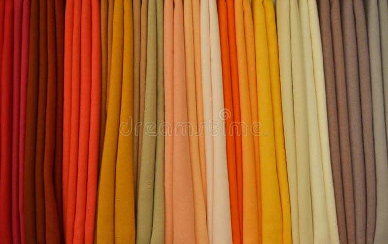 Colours from cloths stock images