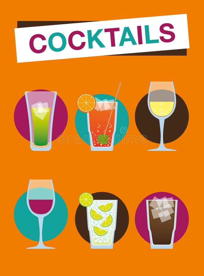 Beach cocktails - Summer holiday royalty free stock images