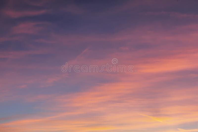 colours of the sky at sunset royalty free stock photography