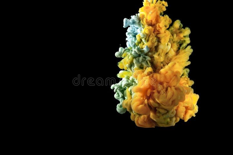 Colours w wodzie obraz stock