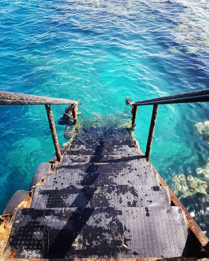 Colourscheme för colorsplash för färger för himmel för trappa för korall för goodlife för liv för sommartid för summervibes för s arkivfoto