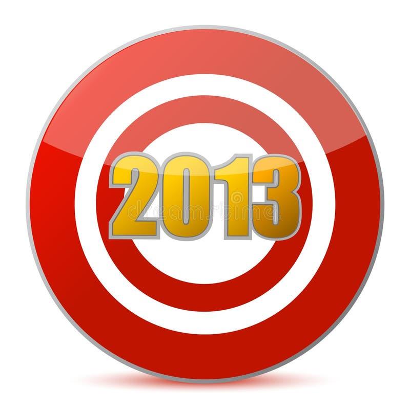 Colpendo obiettivo - nuovo anno 2013 illustrazione vettoriale