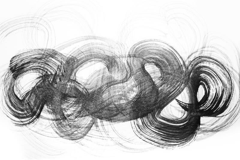 Colpi astratti della spazzola dell'acquerello di pittura sul backgr del Libro Bianco royalty illustrazione gratis
