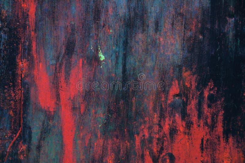 Colpi astratti della spazzola di struttura multicolore Colpi rosso scuro della spazzola del fondo immagini stock libere da diritti