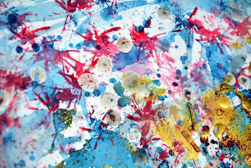 Colpi cerei viola pastelli scintillanti del fondo e della spazzola dei punti, tonalità, punti immagine stock libera da diritti