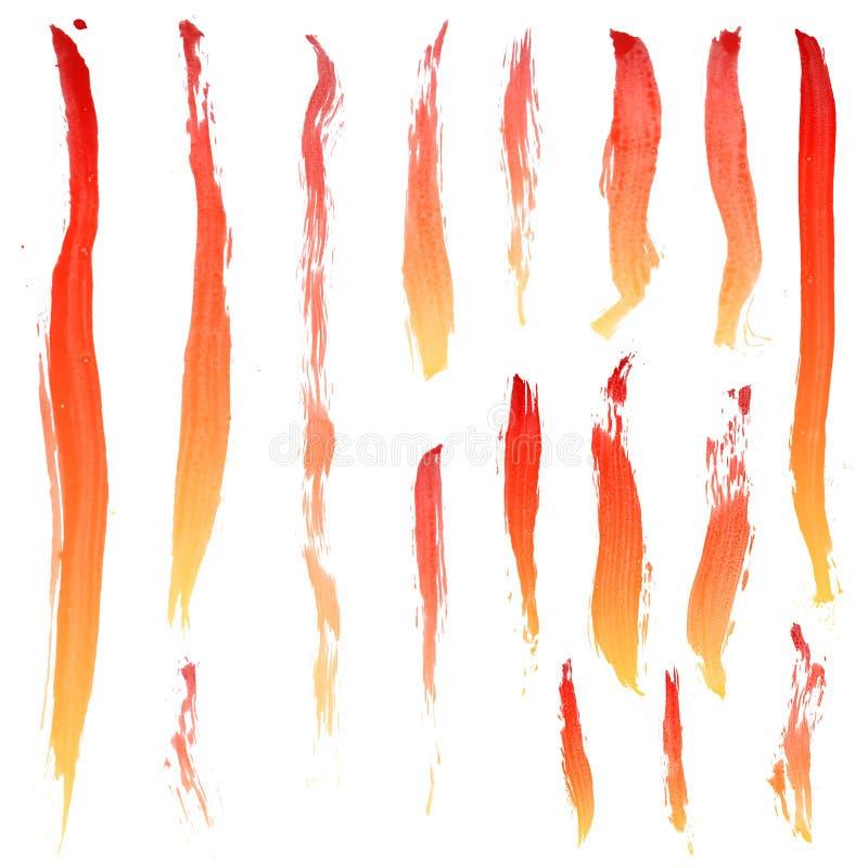 Colpi della spazzola illustrazione vettoriale