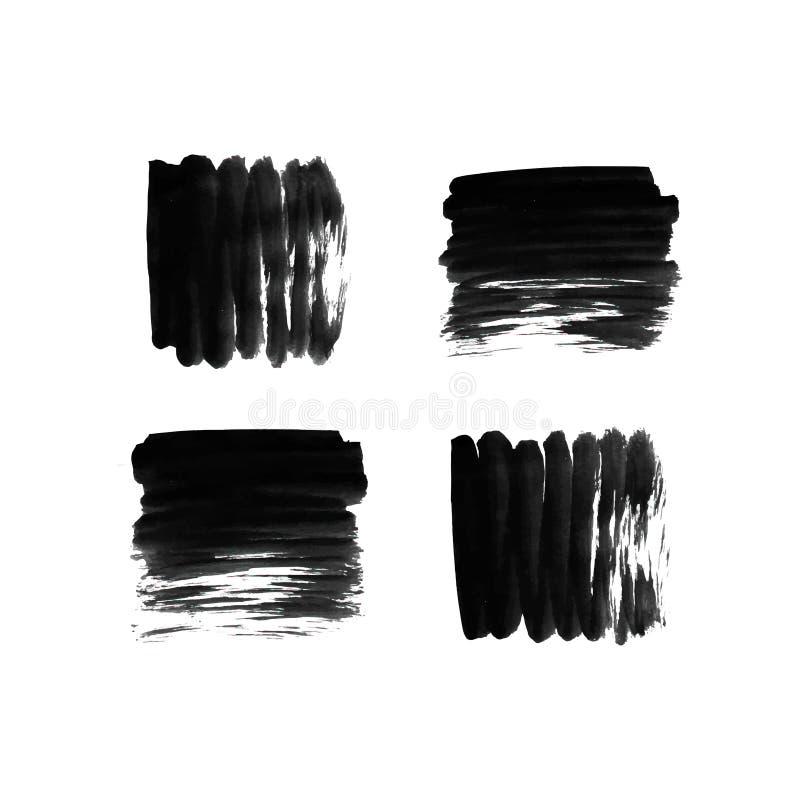 Colpi della spazzola impostati illustrazione di stock