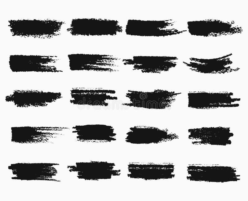 Colpi della spazzola o graffi della penna di inchiostro illustrazione di stock