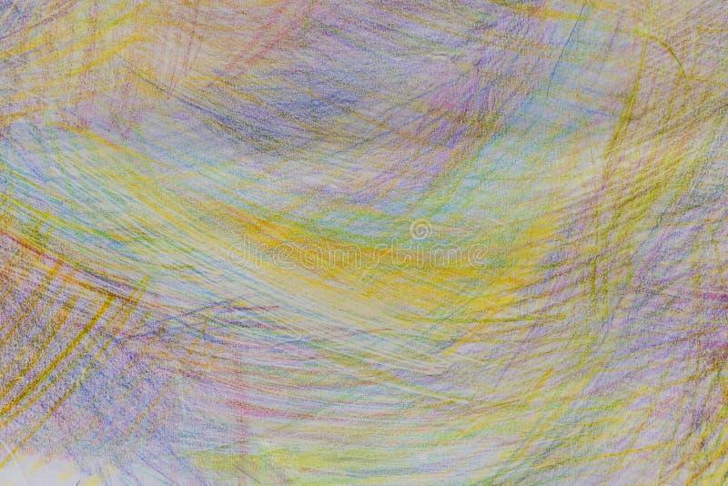 Colpi delle matite colorate sulla carta fotografia stock libera da diritti