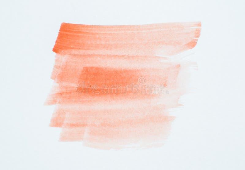 Colpi e struttura arancione-chiaro della spazzola di colore immagini stock libere da diritti