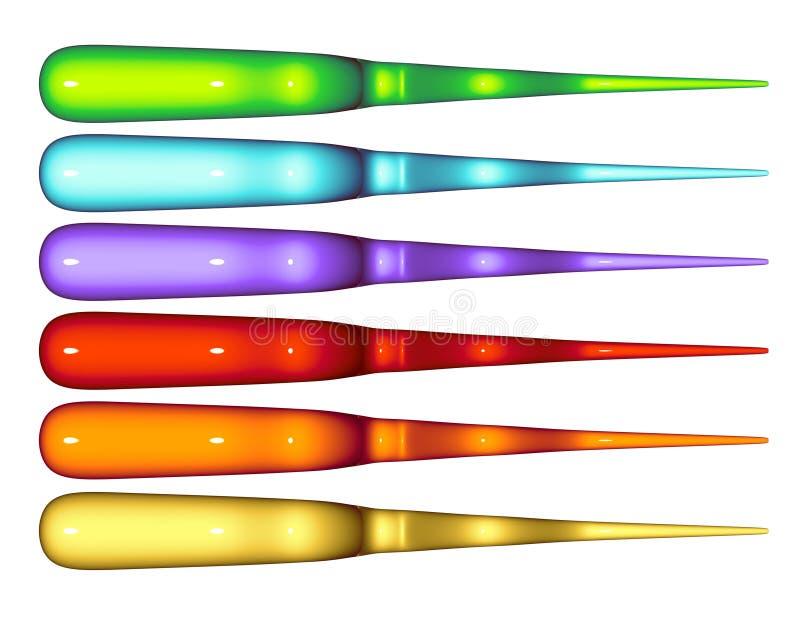 Colpi funky di turbinio protetti Rainbow tenebroso royalty illustrazione gratis