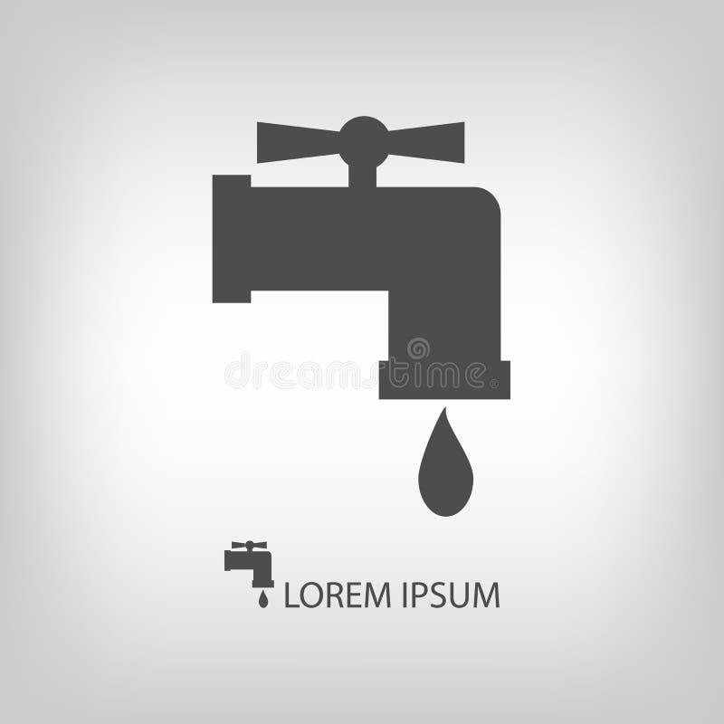 Colpisca con goccia dell'acqua illustrazione di stock
