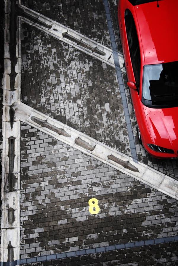 Colpo astratto di parcheggio immagini stock