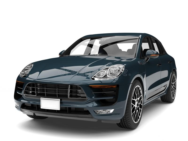 Colpo automobilistico del primo piano della famiglia fresca moderna scura dell'alzavola illustrazione di stock