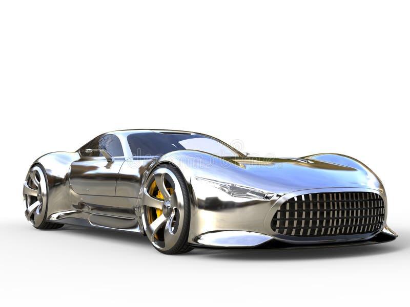 Colpo automobilistico del primo piano di sport eccellenti moderni metallici impressionanti fotografie stock