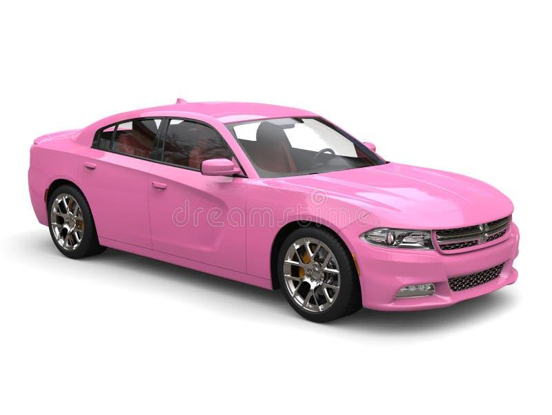 Colpo automobilistico di bellezza della città veloce moderna rosa luminosa immagine stock libera da diritti
