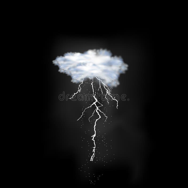 Colpo del folgore sul fondo del cielo illustrazione vettoriale