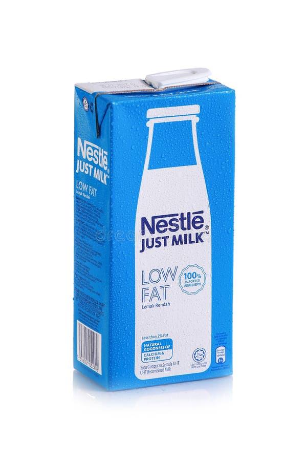 Colpo del prodotto lattiero-caseario di Nestle fotografia stock