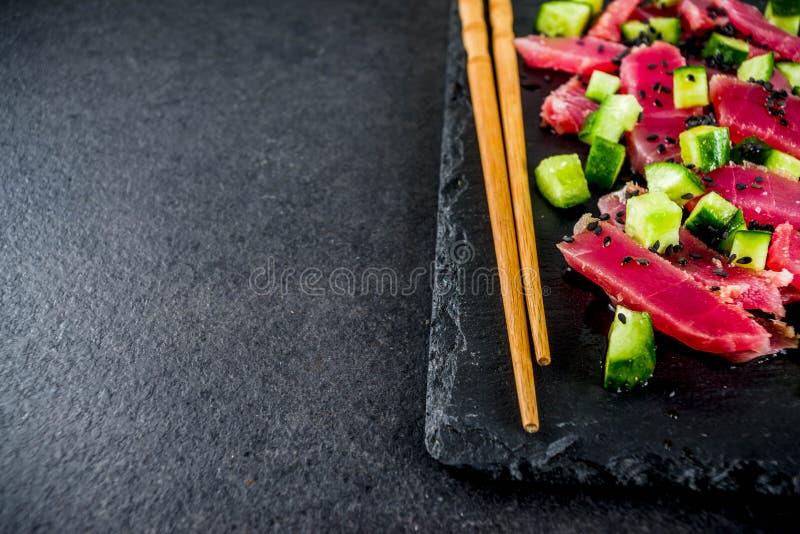 Colpo del sashimi del tonno immagine stock