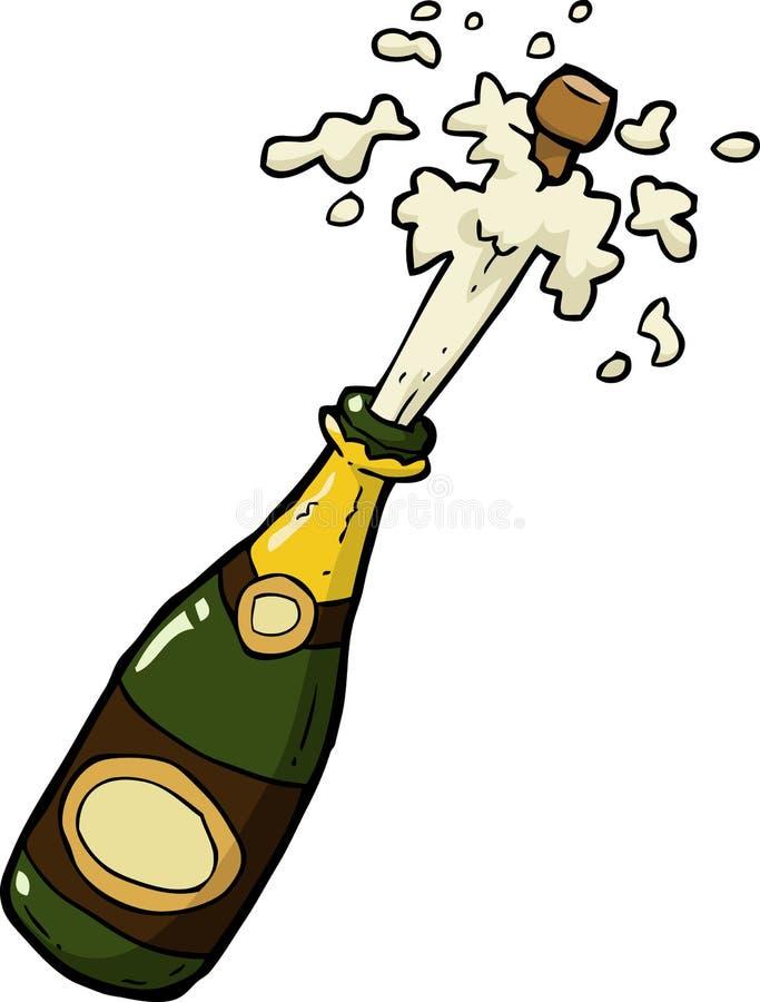 Colpo della bottiglia di Champagne royalty illustrazione gratis