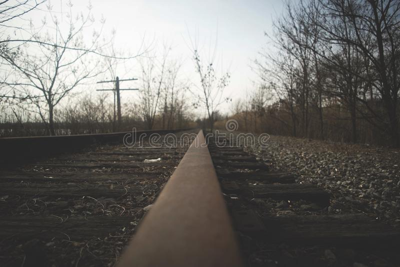 colpo della ferrovia fotografie stock