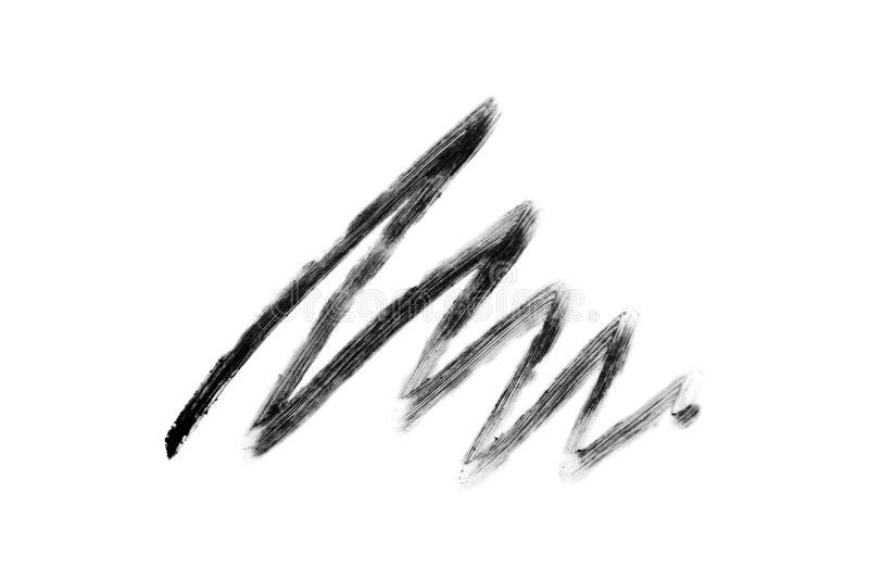 Colpo della matita dell'occhio isolato immagine stock