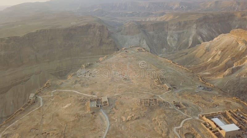 Colpo della parte della fortezza di masada immagini stock libere da diritti