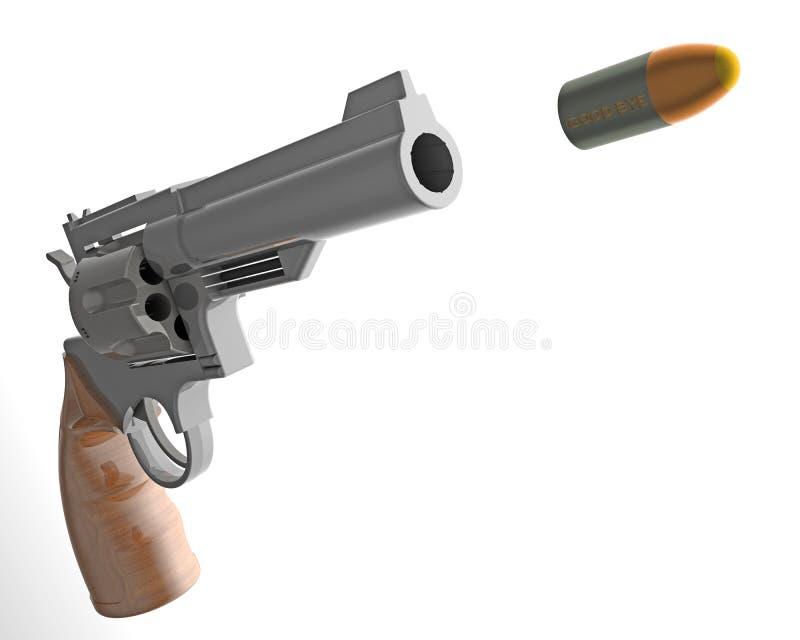 Colpo della pistola fotografie stock