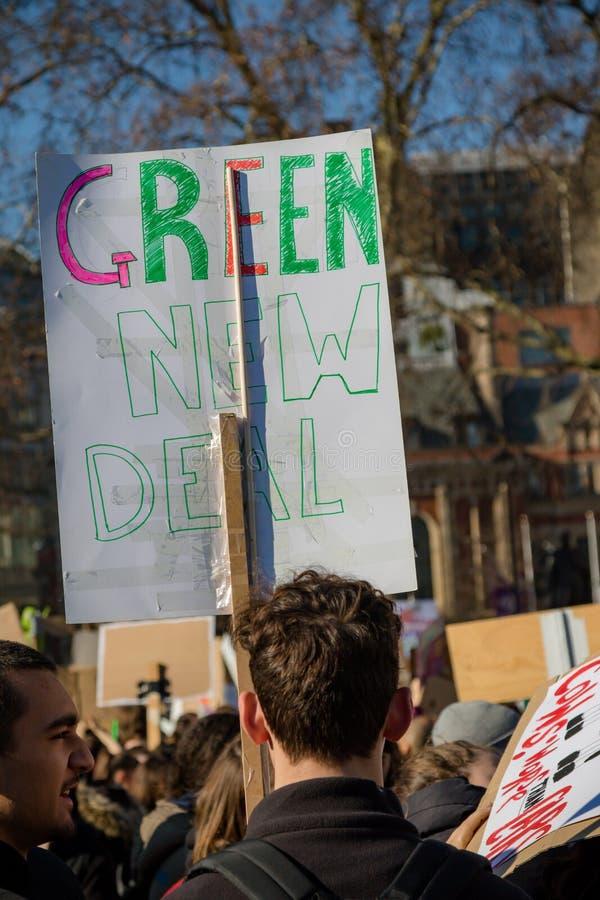 Colpo della scuola per mutamento climatico immagine stock