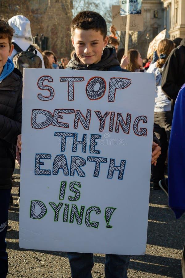 Colpo della scuola per mutamento climatico fotografie stock libere da diritti