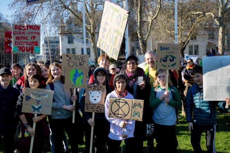 Colpo della scuola per mutamento climatico immagine stock libera da diritti