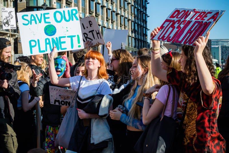 Colpo della scuola per mutamento climatico immagini stock