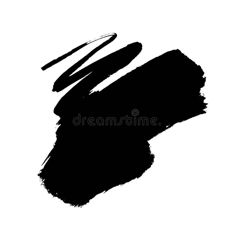 Colpo della spazzola di lerciume illustrazione di stock