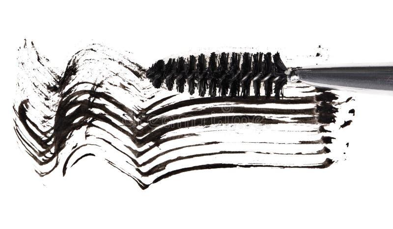 Colpo della spazzola nera della mascara fotografia stock libera da diritti