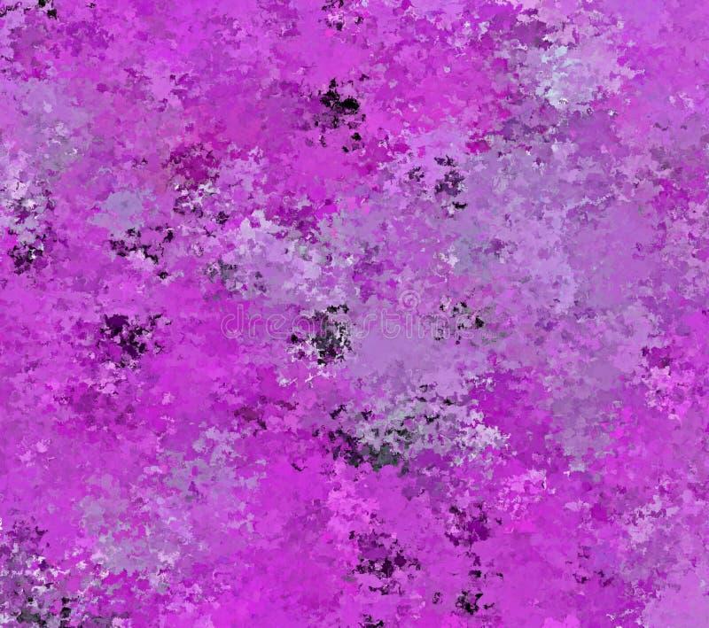 Colpo dello spruzzo dell'estratto della pittura di Digital in tonalità differenti di Violet Background intelligente illustrazione vettoriale