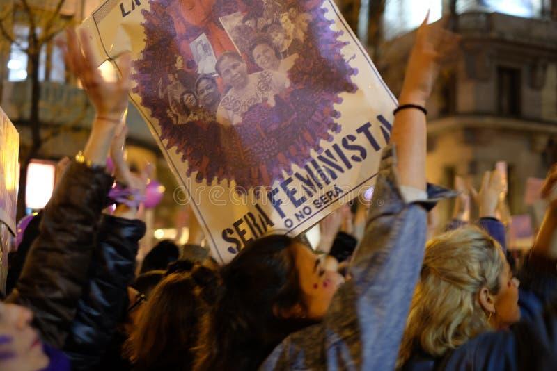 Colpo di Demostration 8M Feminist immagine stock
