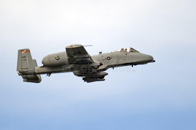 Colpo di fulmine II della Repubblica A-10 di Fairchild fotografia stock libera da diritti