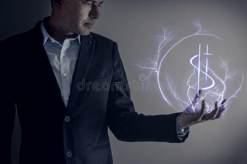 Colpo di Lihtning del dollaro fotografia stock