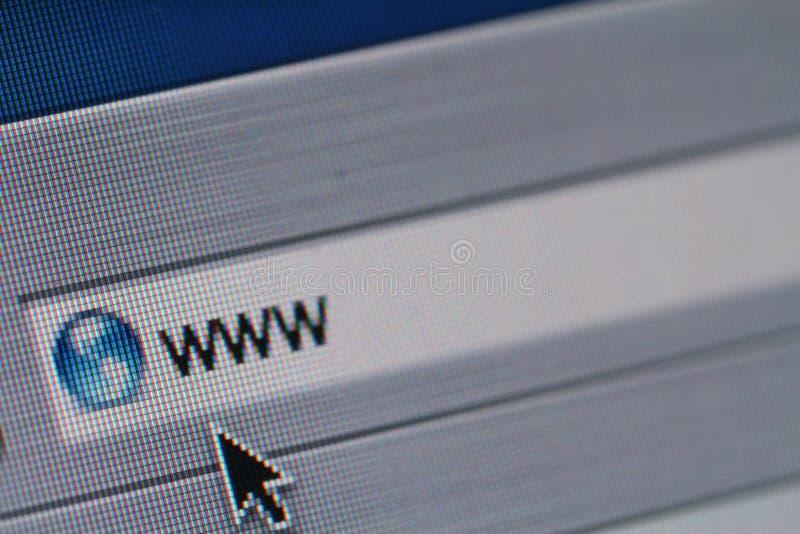 Colpo di schermo di WWW fotografia stock libera da diritti