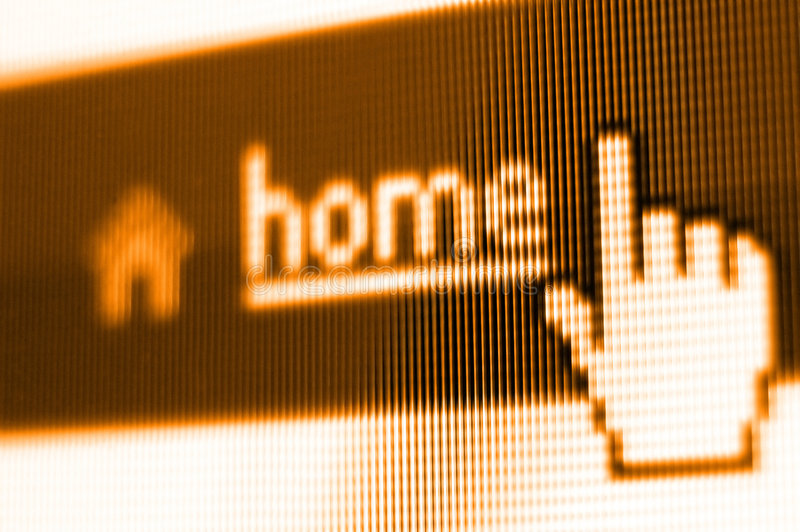 Colpo di schermo domestico fotografia stock