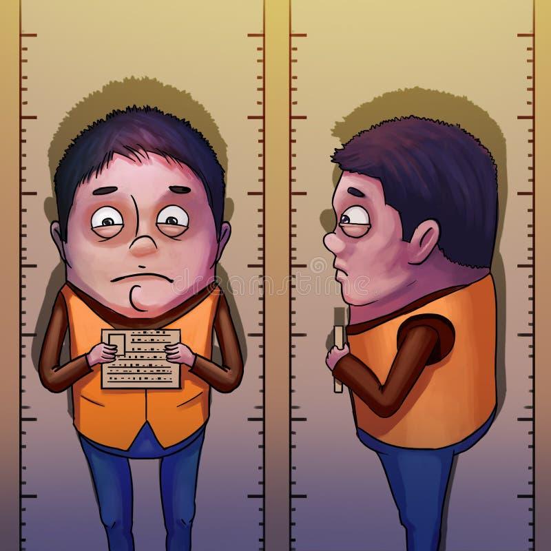Colpo di tazza Stile realistico del fumetto di caricatura, video Game& x27; materiale illustrativo di s Digital CG, progettazione illustrazione di stock