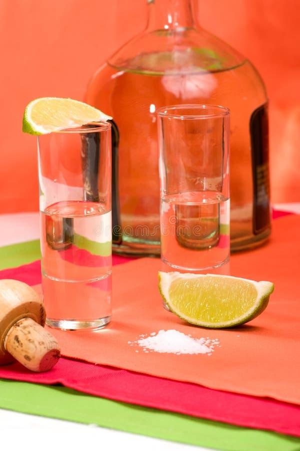 Colpo diritto di tequila fotografia stock