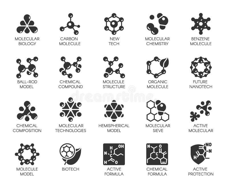 Colpo editabile il pixel 48x48 perfeziona 20 icone nello stile piano Logo nero astratto di vettore isolato illustrazione di stock